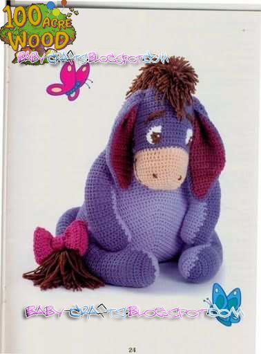 """Free pattern for """"Eeyore"""" from Baby Crafts!"""