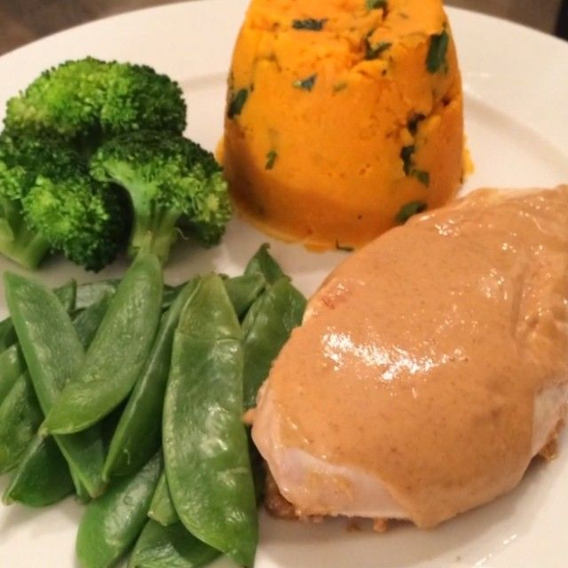 The Body Coach: Peanut Butter Chicken. Do a vegan version