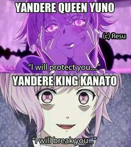 I love both of them so much ♥ Yuno gasai - future diary / mirai nikki   Kanato sakamaki - diabolik lovers