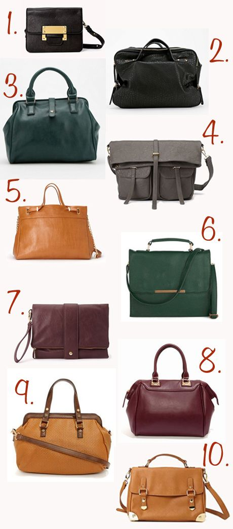 Vegan Fashion | Purses for Fall  I want them all please x