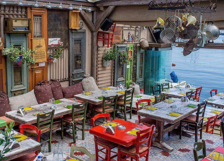 Greek Tavern in Mikrolimano Bay, Piraeus