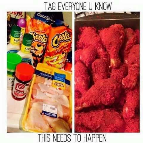 Hot cheeto chicken wings.. Yum
