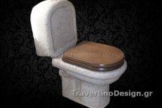 Unique handmade bathroom basins conversion of porcelain stone travertine stone with triple coating.
