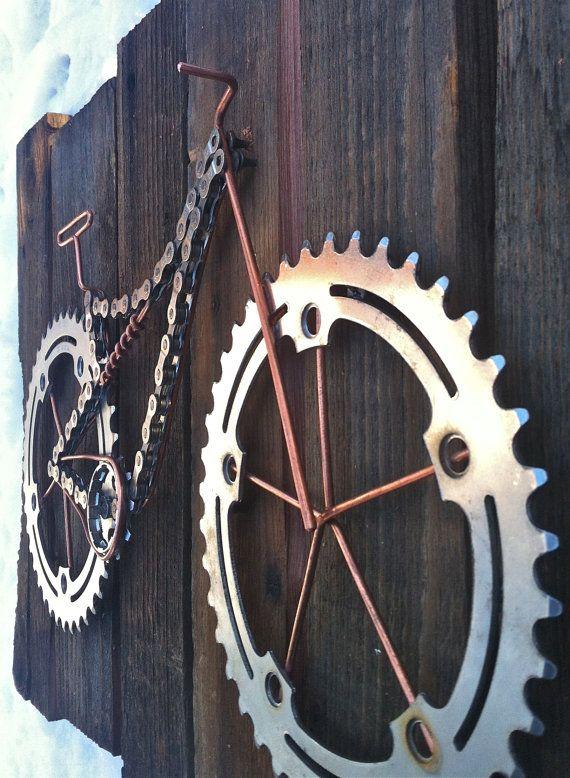 Bike Art Twice Bitten van TheBikeFund op Etsy
