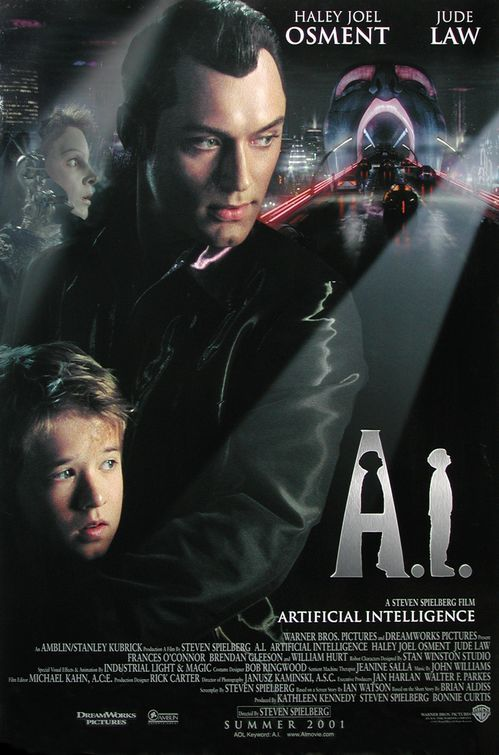 A.I. - one of the most touching movies ever. A.I. Artificial Intelligence, also known as A.I., is a 2001 science fiction drama film directed, produced and co-written by Steven Spielberg. Development of A.I. originally began with director Stanley Kubrick in the early 1970s.