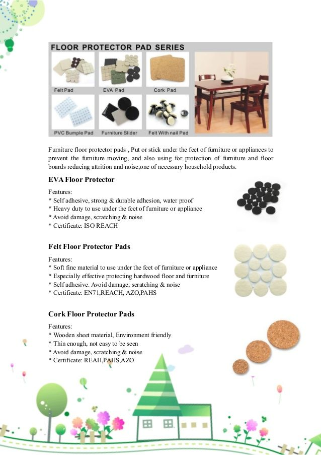Furniture floor protector pads series -guangzhou prodigy by Sammi Liang via slideshare
