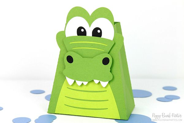 Alligator Favor Box : Handcrafted Crocodile Party Favor | Gator Gift Box | Reptile Favor | Peter Pan Party Favor | Made to Order by Piggy Bank Parties