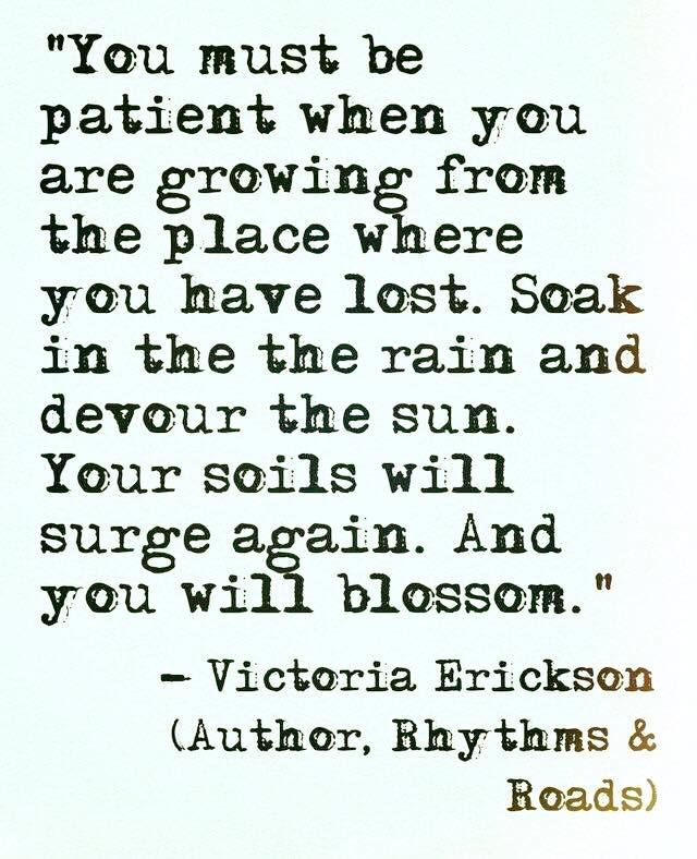And you will blossom!!