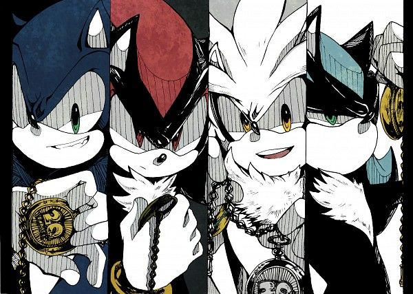Tags: Anime, Fanart, Sonic the Hedgehog, Shadow the Hedgehog, Silver the Hedgehog and.... (can't remember his name at the moment)