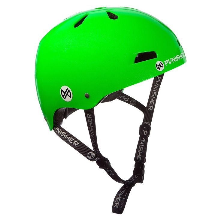 Punisher Skateboards Skateboard Helmet Lime Green