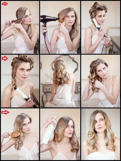 Pratik dalgalı saç yapma yöntemi - maşayla dalgalı saç yapmak