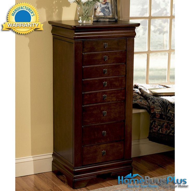 Powell Louis Philippe Cherry Jewelry Armoire Storage Cabinet Furniture.  $492.00