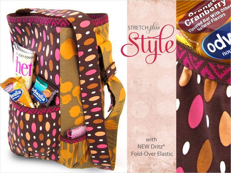 Boho Shoulder Bag with New Dritz Fashion Elastic