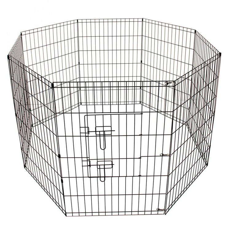 Pet Playpen For Dog Animal Cage Exercise 8 Panel Foldable Fence Large New #Unbranded