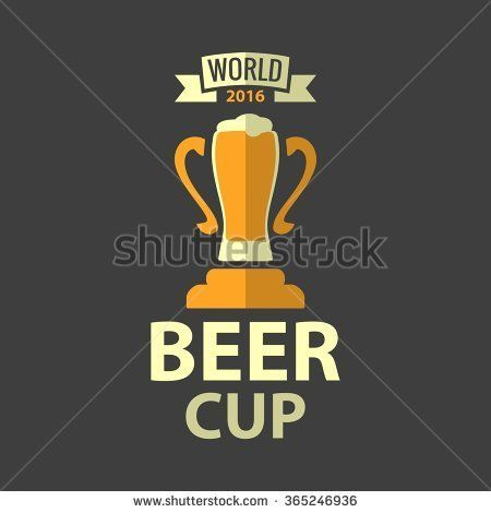 Beer Icon Cup. Vector flat illustration for emblem, logo, web, info graphic, invitation to party oktoberfest festival