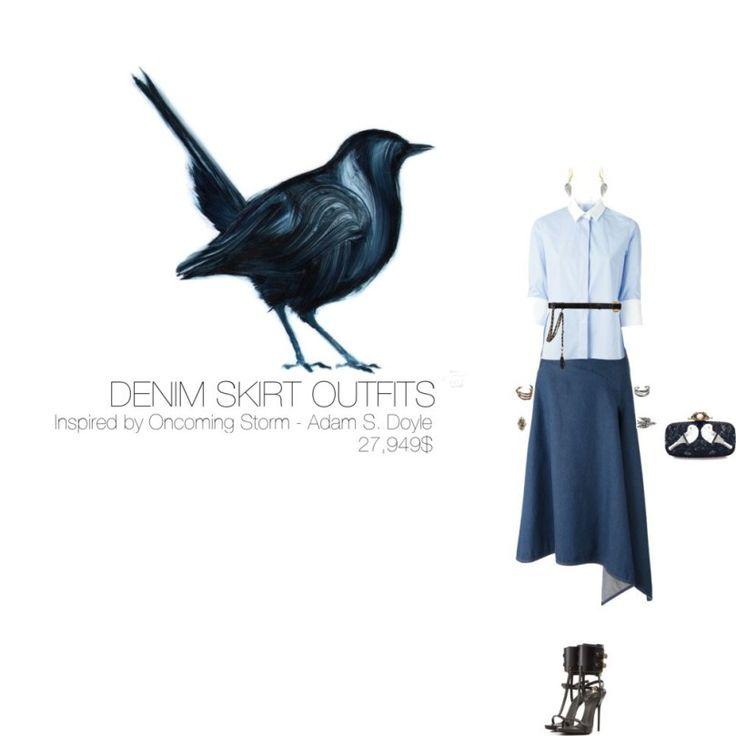 27,949$ Denim Skirt #MostExpensiveOutfit Inspired by Oncoming Storm, 2010 by Adam S. Doyle @AdamSDoyle ft. @MaisonValentino @StellaMcCartney @GZanottiDesign @OscarPRGirl @gemvara @BDelettrez @EmilioPucci