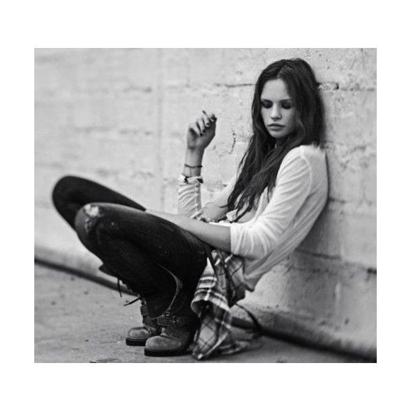 black and white, fashion, girl, grunge, photography found on Polyvore