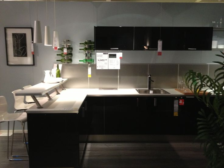 Ikea kitchen with breakfast bar