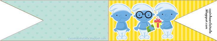 Casinha de Criança: Kit Festa Os Smurfs Para Imprimir Grátis