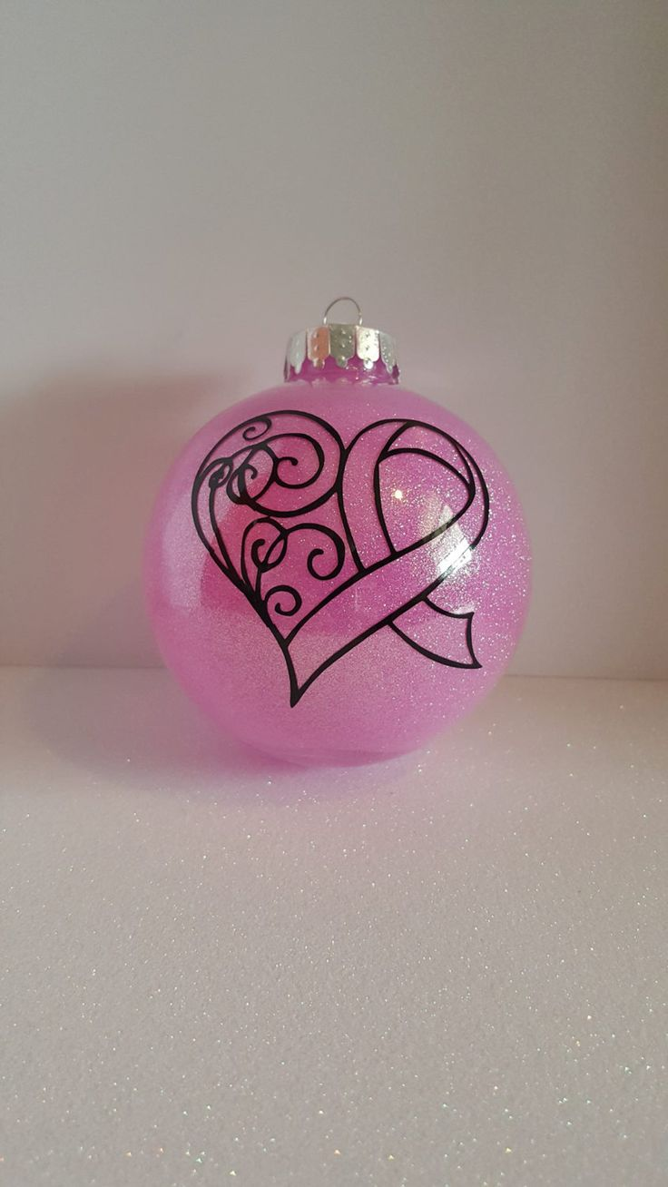 Breast cancer ornament - Breast Cancer Ornament Pink Ribbon Cancer Awareness Ornament Gifts For Cancer Survivors Personalized Ornament Glitter Ornament Plastic