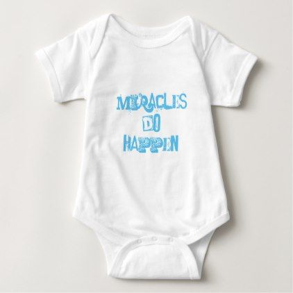 Miracles Do Happen Baby Body Suit Baby Bodysuit - girl gifts special unique diy gift idea