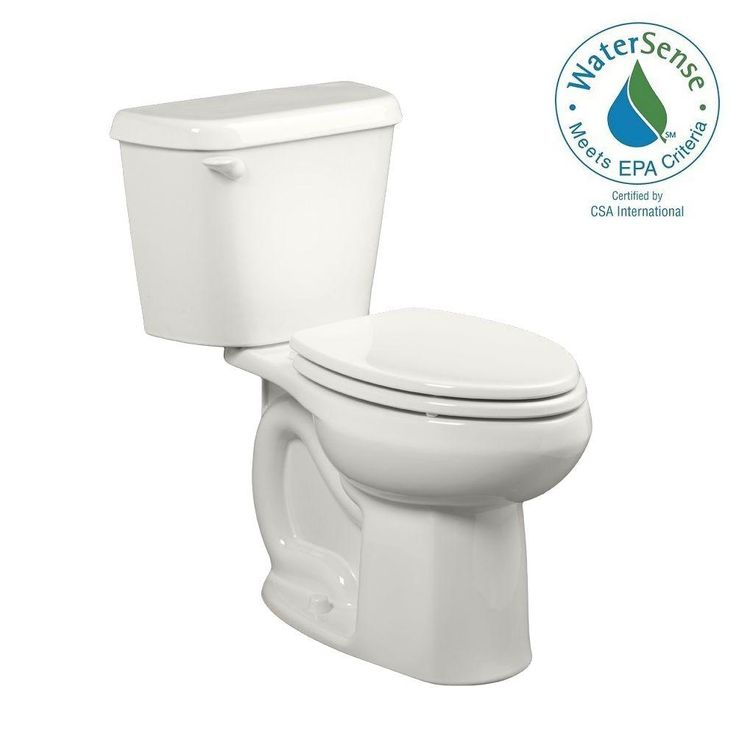 American Standard Colony 2-piece 1.28 GPF Single Flush Elongated Toilet for 10 in. Rough in White