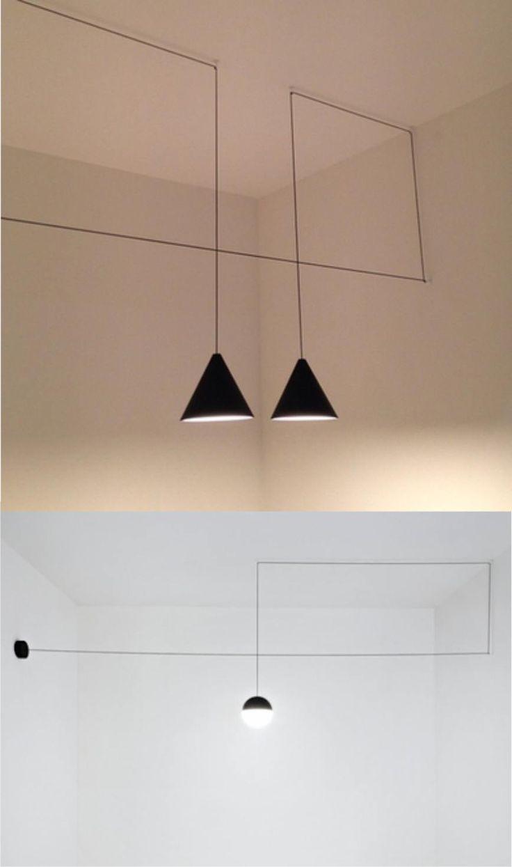 Decora tu pared con el cable de la lámpara | Muy Ingenioso