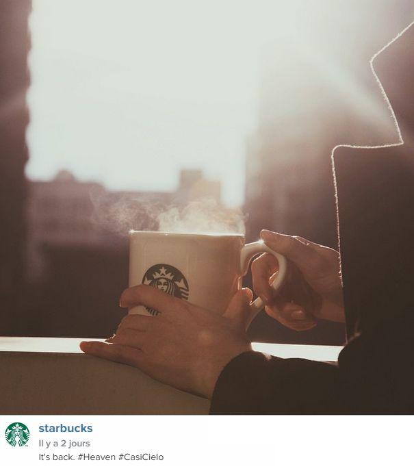 Great Instagram post from Starbucks in New York, NY/ Sympathique post Instagram de Starbucks à New York, NY http://instagram.com/p/x9ghCVxczx/?modal=true