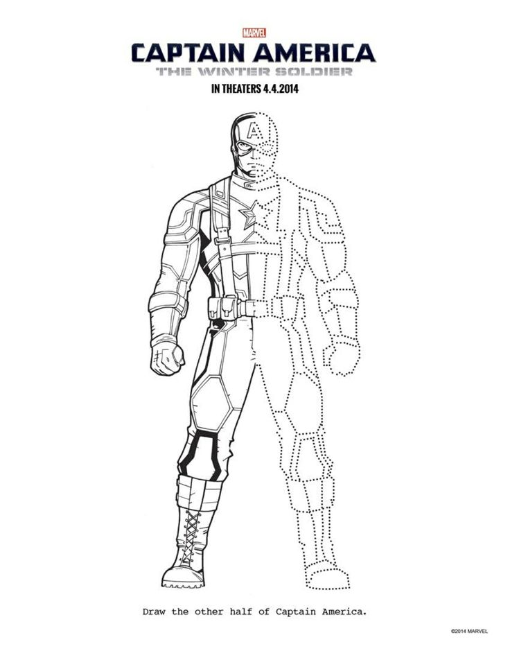 13 CAPTAIN AMERICA THE WINTER SOLDIER coloring sheets to