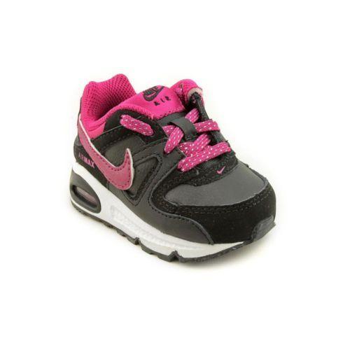 Nike Air Max mand TD Infant Baby Girls Size 4 Black
