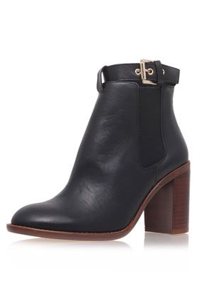 **High Heeled Leather Ankle Boots by Kurt Geiger