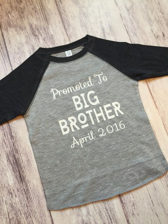 Welcome to Purple Elephant Co! This is an adorable way to announce your pregnancy and the promotion to big brother! This shirt can be