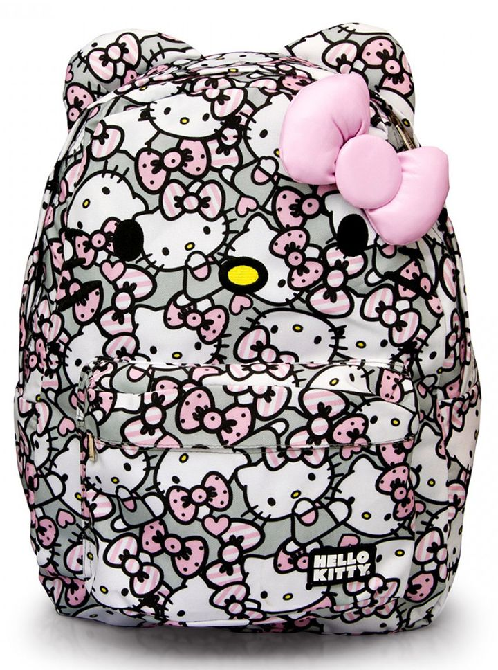 """""""Hello Kitty All Over Print"""" Backpack by Loungefly (Grey) #InkedShop #HelloKitty"""