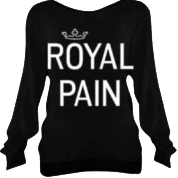 Pre-owned Royal Pain Lounge Set & Bottoms Sweatshirt found on Polyvore featuring tops, hoodies, sweatshirts, shirts, jet black, black pullover, sweatshirts hoodies, graphic pullover sweatshirts, black top and black pullover sweatshirt