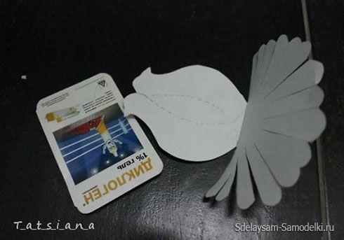 Bílá holubice papír