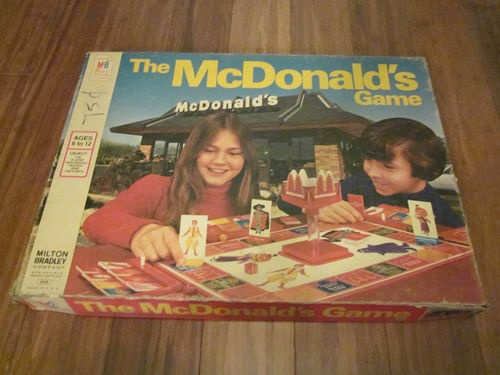 1975 *The McDonald's Game* Milton Bradley vintage board game
