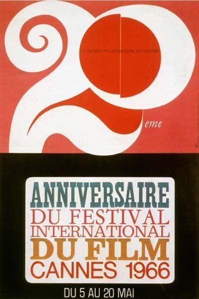 La 19ème édition du Festival de Cannes, en 1966 Auteur de laffiche: Ferracci Palme dOr ex-aequo: Un homme et une femme de Claude Lelouch et Ces messieurs damesde Pietro Germi