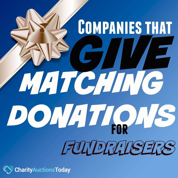 Companies often match donations for school fundraisers. Read more to learn how to find matching donation companies. #CharityAuctionsToday #MatchingDonations