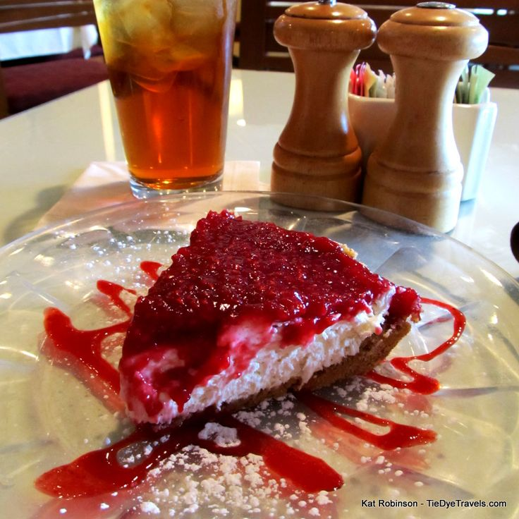 Raspberry cream cheese pie at Trio's, Little Rock. #arkansaspie ...