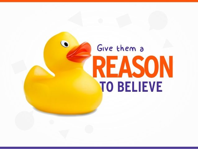 Give them a REASONTO BELIEVE