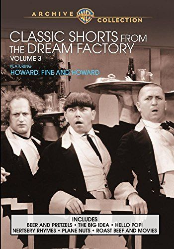 """Classic Shorts From The Dream Factory Volume 3:   On their way from the boards of vaudeville to becoming bona fide comedy legends, the men who would be Stooges did a spell as second bananas for Ted Healy on the soundstages of MGM. Along the way they had to sub one sibling for another, with younger brother Jerry (""""Curly"""") coming in to replace brother Shemp, who was on his way to a successful solo career in Vitaphone movies comedies. Ted Healy may have been the nominal headliner, but it'..."""