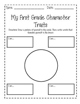 Worksheets Character Traits Worksheets 1000 images about character building worksheets on pinterest my first grade traits end of year reflection