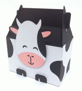 Silhouette Online Store: cute cow box; Cute set including zebra, pig, lamb, giraffe, panda, elephant, donkey, lion and tiger!!