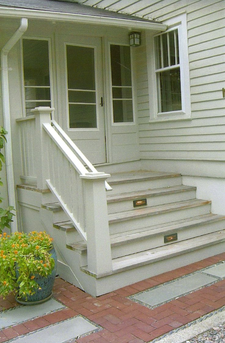 Front Porch Steps : Ideas about front porch steps on pinterest siding