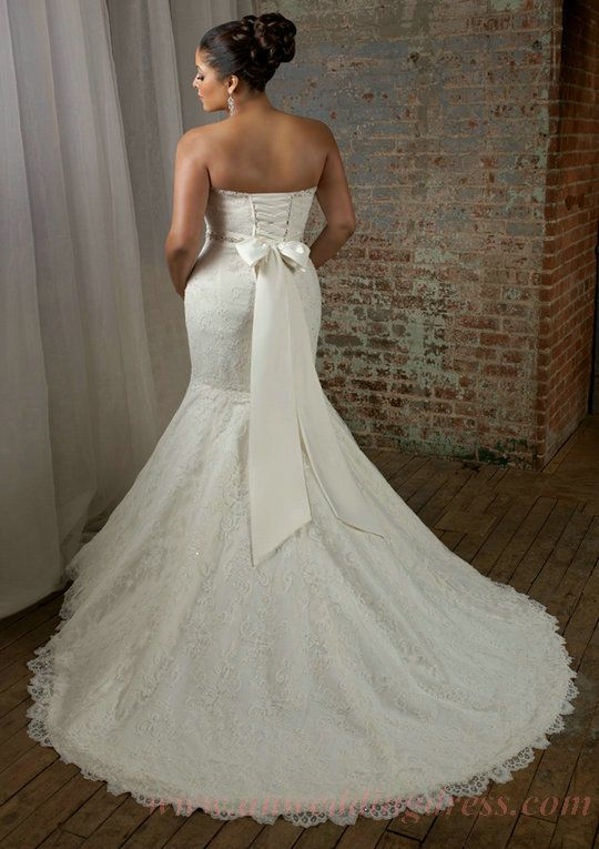 Image detail for -Buy Applique Beaded Waist Beautiful New Lace Plus Size Wedding Dresses ...