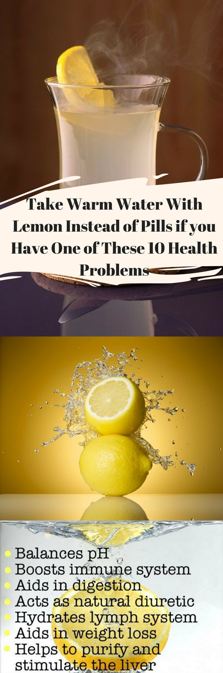 Take Warm Water With Lemon Instead of Pills if you Have One of These 10 Health Problems