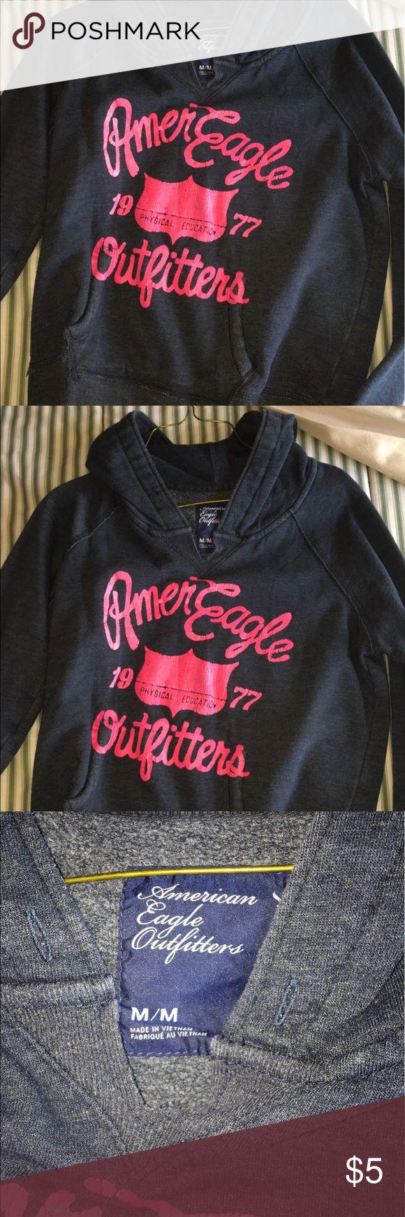 American eagle sweatshirt Old American eagle sweatshirt! great condition besides cracking on the letters American Eagle Outfitters Sweaters