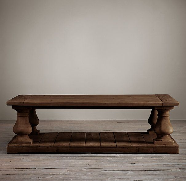 Reclaim your living room with the balustrade salvaged wood coffee table from restoration Restoration coffee tables