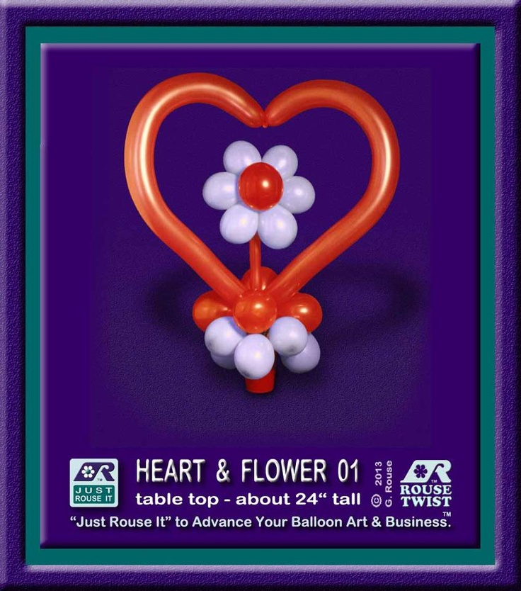Valentine's Heart and Flower by Just Rouse It.