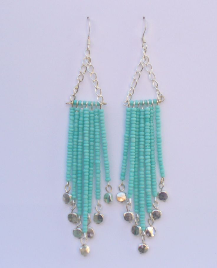 seed bead chandelier earrings by lizzysblingythingys on etsy - Earring Design Ideas